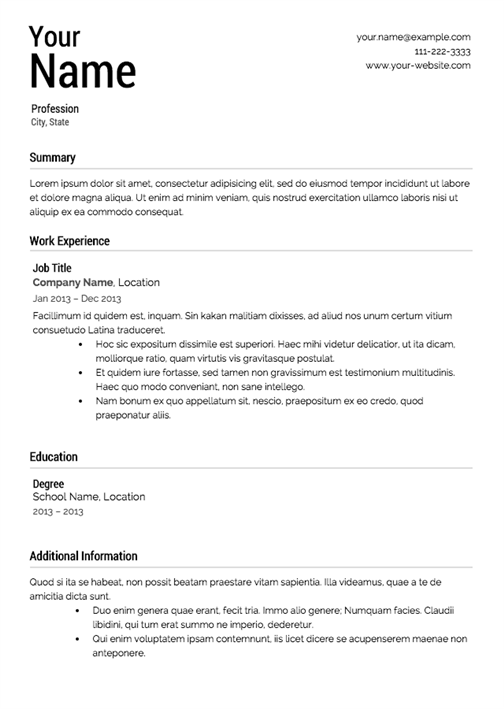 what a resume should look like what should a resume look like 25500 | what should a resume look like 11
