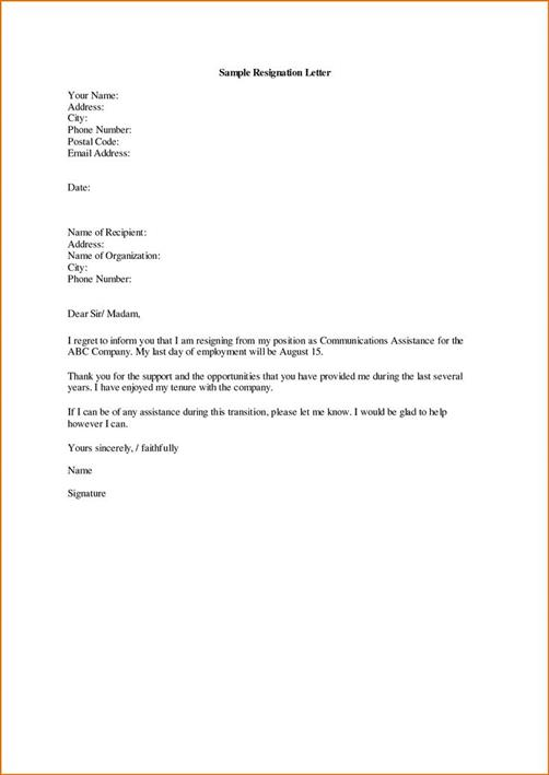 how to write resignation letter best resignation letter templates 48434