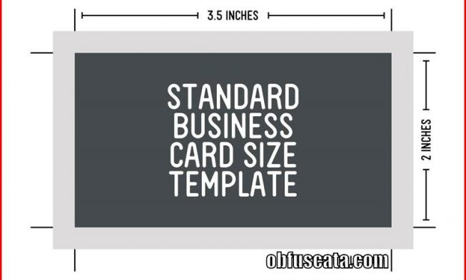 What is the standard business card size for What is a business card size