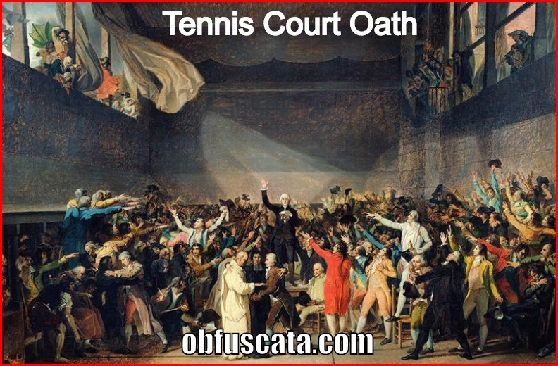 what caused the tennis court oath