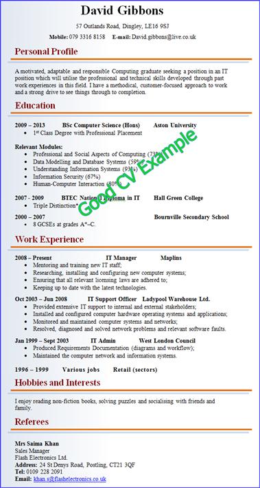 Best CV Examples