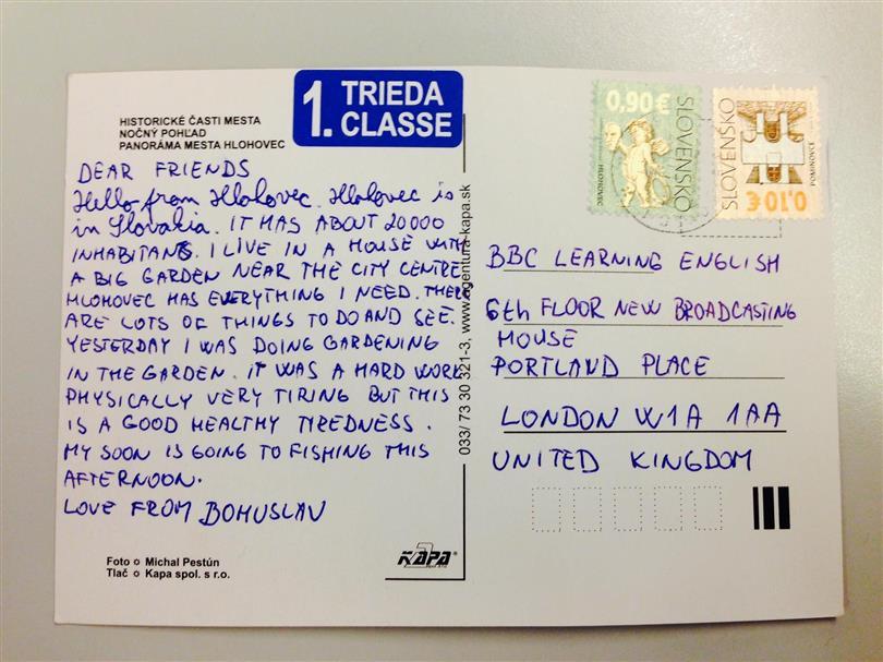how to write a postcard