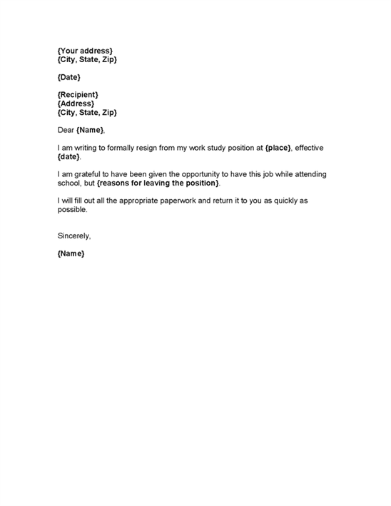 resignation letter format hotel the letter of resignation template 19778 | letter of resignation template 22