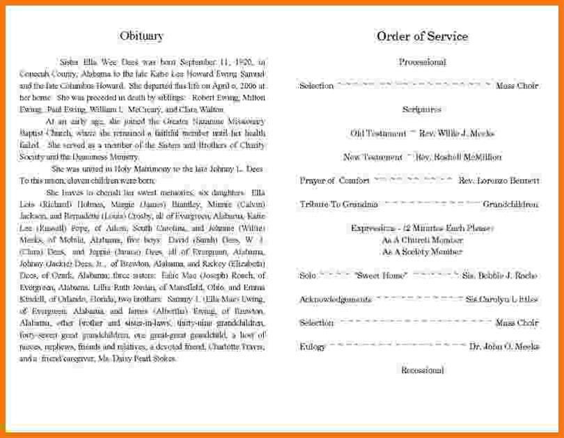 writing obituaries templates - best obituary templates