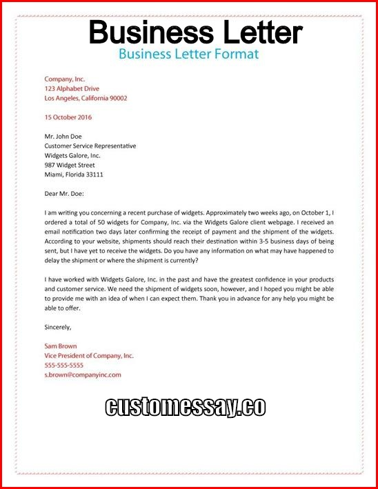 format for business letter what is a business letter 1764