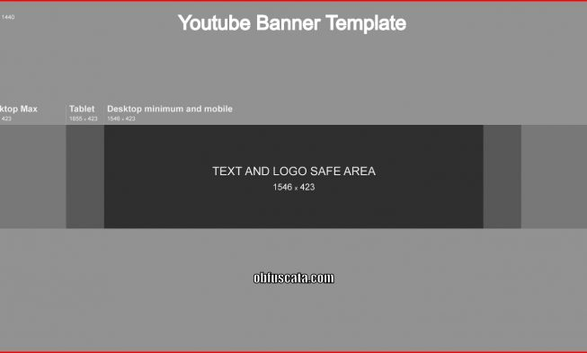 Youtube Banner Template 653x393
