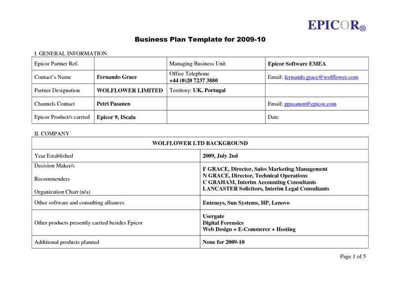 Best business plan template accmission Images