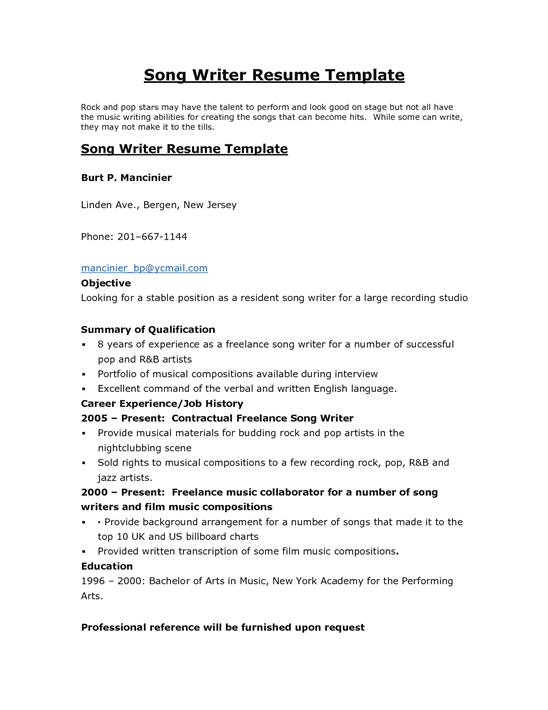 Buy resume for writer professional