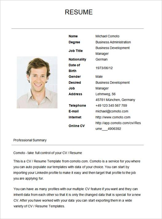 simple-resume-template-19 Sample Different Types Of Resume Format on job application, for high school students,