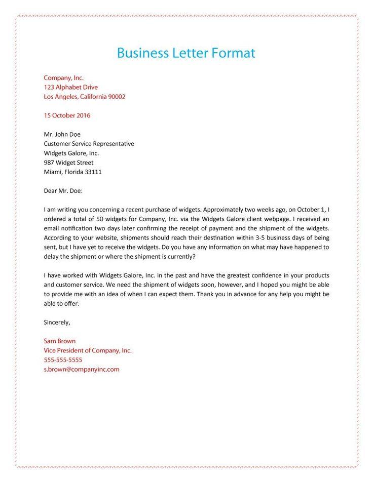 best business letter format
