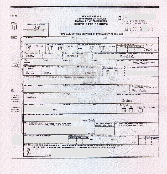 How Birth Certificate Should Be?