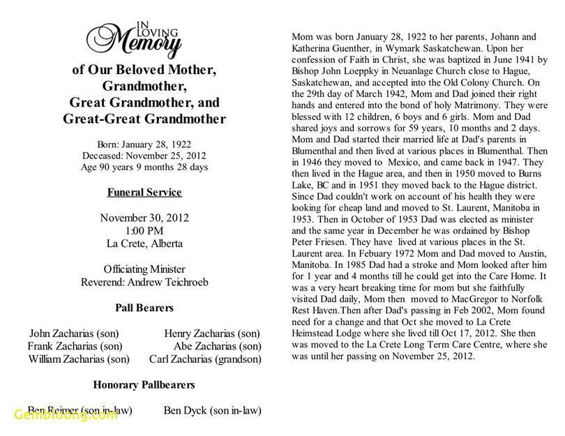 Obituary Template