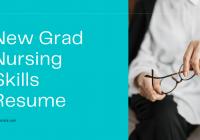New Grad Nursing Skills Resume